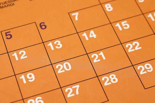 カレンダー,妊娠初期,出血,少量