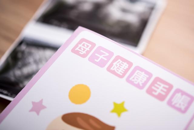 母子手帳とエコー写真,妊娠26週,