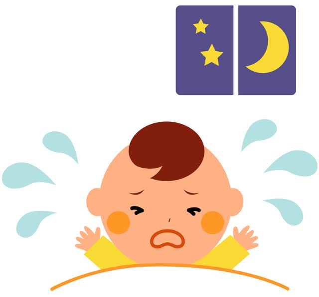 夜泣き,急性中耳炎,赤ちゃん,