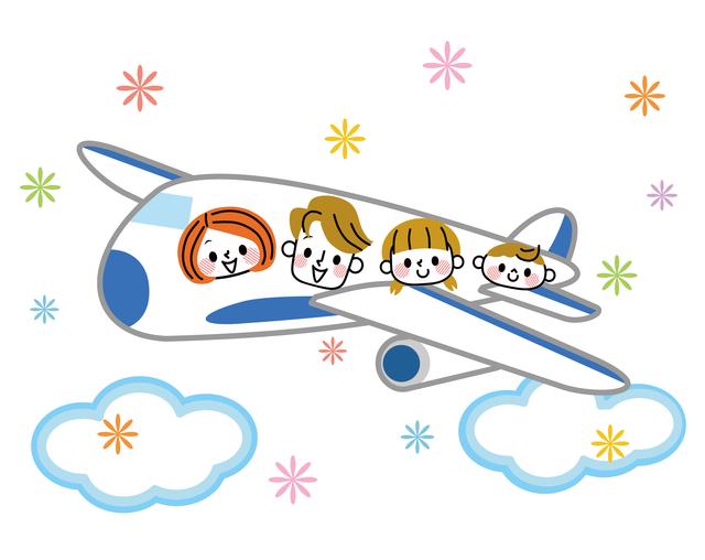 飛行機で家族旅行,急性中耳炎,赤ちゃん,