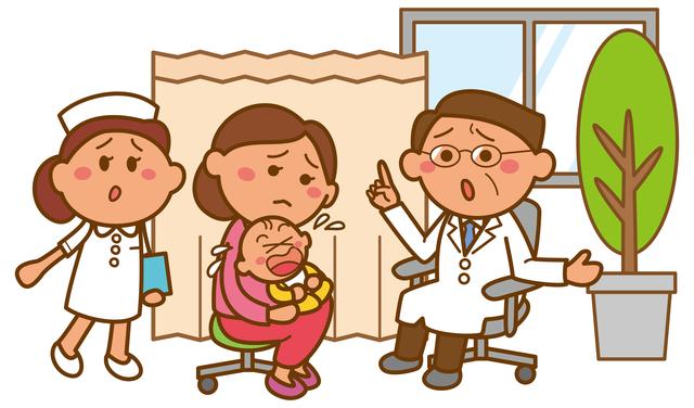 赤ちゃん病院受診,赤ちゃん,インフルエンザ,