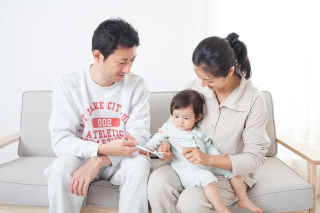 家族 虫歯,幼児,歯,