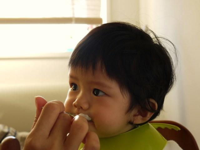 離乳食中期の赤ちゃん,離乳食,中期,
