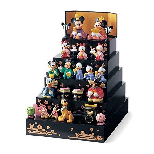 [ベルメゾン] ディズニー 段飾り 雛人形 おひなさま フルセット 5段飾り ブラック(雛壇),お雛様,