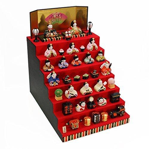 錦彩華みやび雛(七段飾り) 陶器 雛人形 ひな人形 つるし飾り特典付オリジナル雛人形 雛 ミニ 雛飾り 初節句 雛まつり,お雛様,