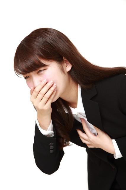 吐き気のある仕事中の女性,妊娠初期,仕事,