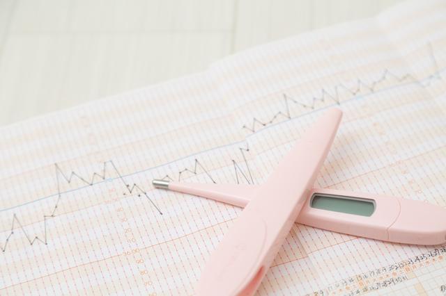 基礎体温グラフ,妊娠時,基礎体温,