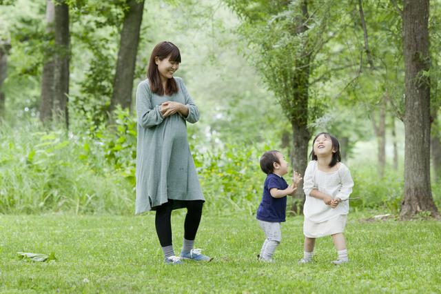 経産婦と子ども達,出産,兆候,