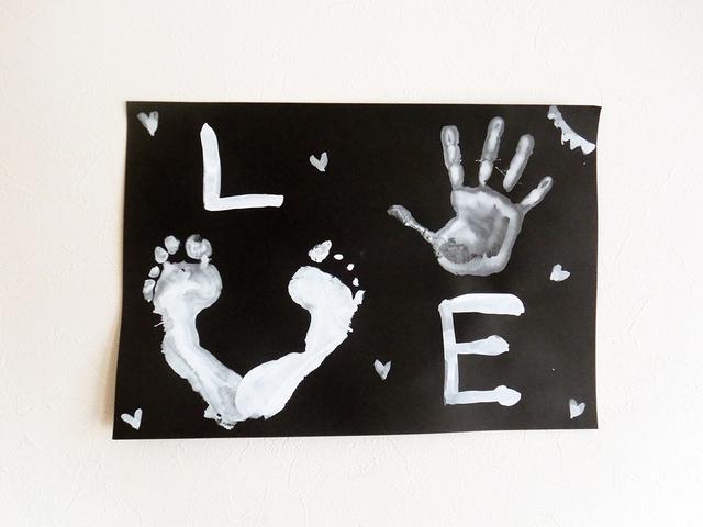 LOVE 手形 足形アート,手形,足形,アート