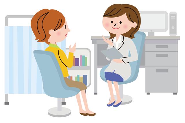 病院受診イメージ,妊娠初期,喉の痛み,
