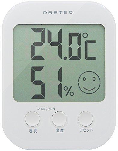 ドリテック(dretec) デジタル温湿度計 「オプシス」 ホワイト O-230WT,熱中症,赤ちゃん,