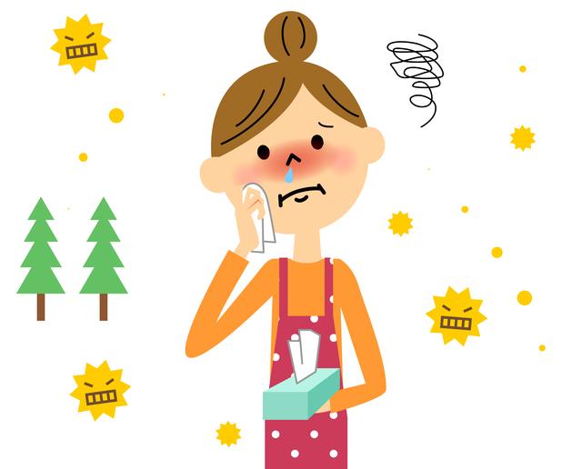 花粉症の原因イメージイラスト,妊娠中,花粉症,