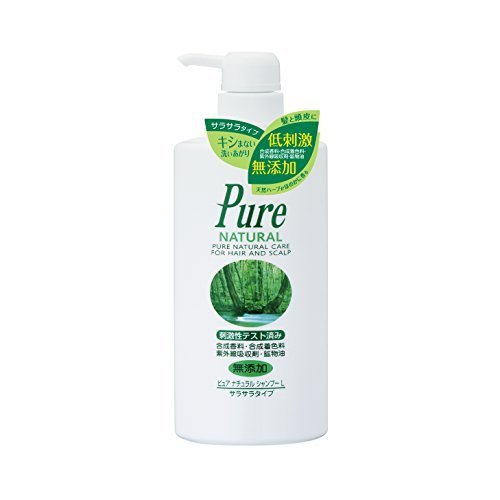 Pure NATURAL(ピュアナチュラル) シャンプー L (サラサラタイプ) 500ml,頭,臭い,