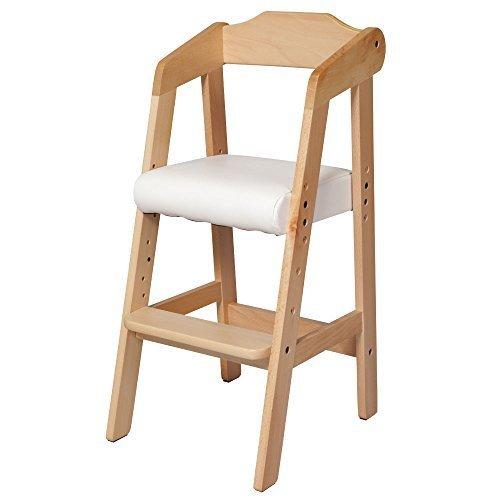 キッズチェア 木製椅子 ハイチェア 3段階調節可能 幅35×奥行41×高さ78.5cm,離乳食,椅子,
