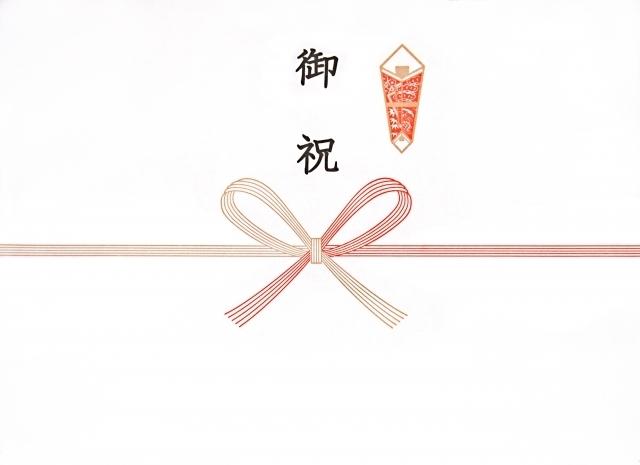 蝶結びの水引き・イメージ画像,出産祝い,封筒,