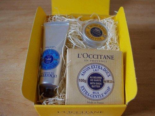 L'OCCITANEロクシタンシアハンドケアセット82 |ラッピング付き|ハンドクリーム/ソープ セット,お見舞い,手土産,
