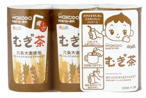 元気っち! むぎ茶 125ml×18本,赤ちゃん,麦茶,