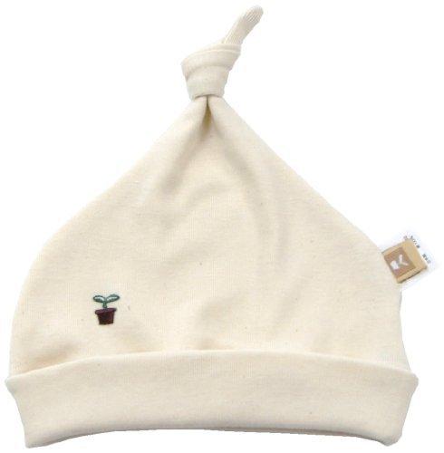 オーガニックコットン フライス ボウシ キナリ MIO101 日本製,新生児,帽子,