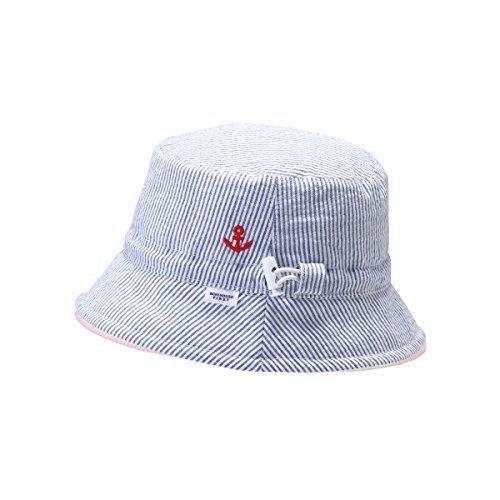 [ミキハウス] MIKIHOUSE 【ミキハウス(ベビー)】 ストライプ×パイル素材のリバーシブル帽子 〈S-M(40-48cm)〉 42-9103-784 ブルー M(44-48cm),新生児,帽子,