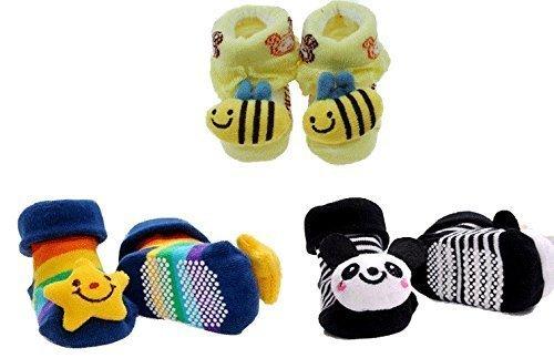 【3足セット】かわいい 赤ちゃん 靴下 ベビーソックス 滑り止め付き,赤ちゃん,靴下,サイズ
