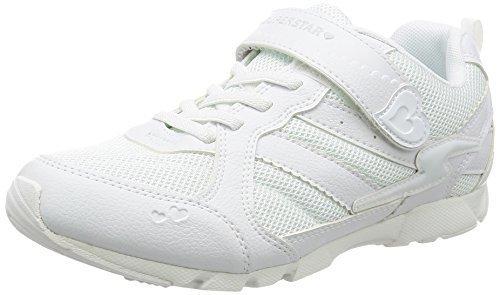 [スーパースター] 通学履き SS J753 ホワイト ホワイト 195(19.5cm) 2E,小学校,上履き,