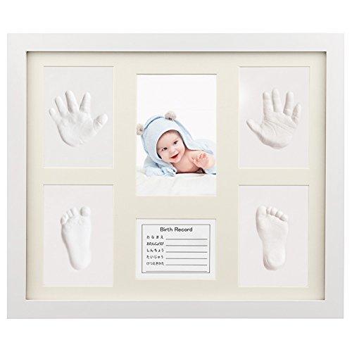 ベビーフレーム iSiLER 手形 足形 フォトフレーム 置き掛け兼用 無毒で安全 赤ちゃん 出産祝い 内祝い ベビー記念品,赤ちゃん,手形,足形