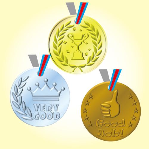 表彰メダル テンプレートイメージ,メダル,手作り,