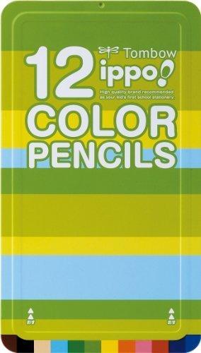 トンボ鉛筆 色鉛筆 ippo! スライド缶 12色 CL-RPN0212C プレーンN,小学生,文房具,おすすめ