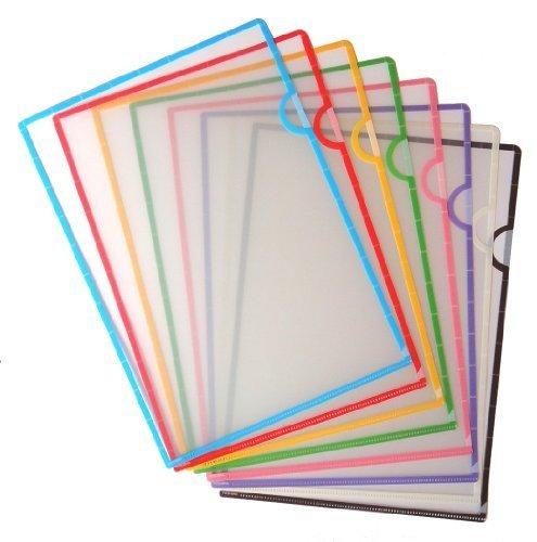 ふちどりカラーファイル 8色セット 日本製,小学生,文房具,おすすめ