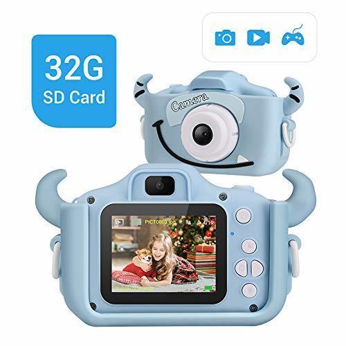 LYPULIGHT子供用 デジタルカメラ トイカメラ 子供プレゼント 子供カメラ 1600万画素 2.0インチ 多機能 USB充電 日本語説明書付き 子供の日 誕生日 知育 教育 男女兼用 (ブルー),おもちゃ,カメラ,