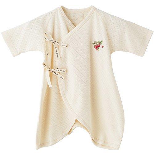 SENSE OF WONDER オーガニックコットン 日本製 コンビ肌着 野イチゴ 刺繍 50-60cm,コンビ肌着,