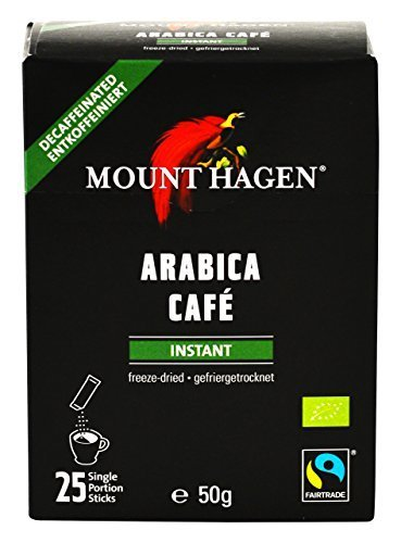 マウント ハーゲン オーガニック フェアトレード カフェインレス インスタントコーヒー スティック 50g(2g×25P) インスタント(スティック),ノンカフェイン,コーヒー,