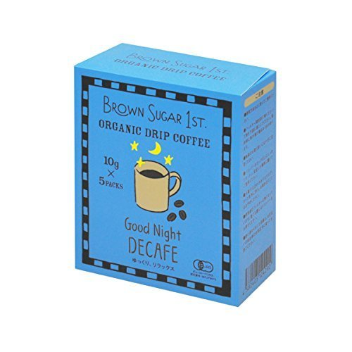 オーガニック カフェインレスコーヒー グッドナイトブレンド ドリップ (有機 化学調味料無添加 砂糖不使用 100%天然 ブラウンシュガーファースト),ノンカフェイン,コーヒー,