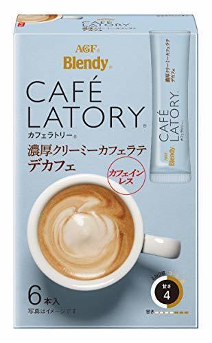 AGF ブレンディ カフェラトリー スティック 濃厚クリーミーカフェラテ デカフェ 6本×6箱 【 カフェインレスコーヒー 】【 スティックコーヒー 】,ノンカフェイン,コーヒー,