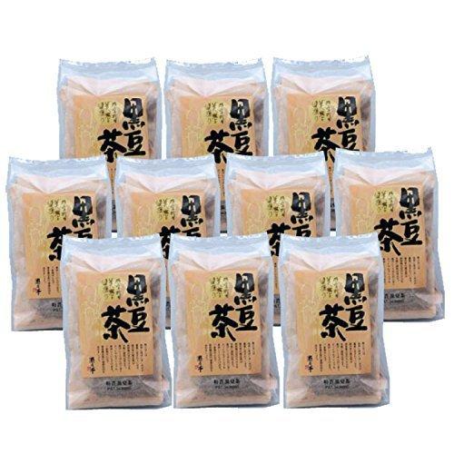 黒豆茶 黑豆茶 遊月亭 黒豆100% 発芽焙煎 ティーパック10包入を10袋 お徳用,ノンカフェイン,コーヒー,