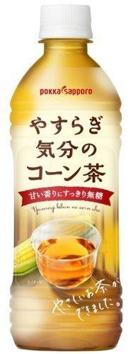 ポッカサッポロ やすらぎ気分のコーン茶 500ml×24本,ノンカフェイン,コーヒー,
