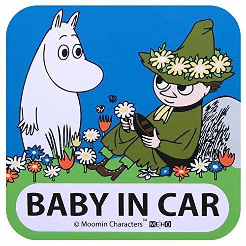 明邦 MOOMIN ムーミン スナフキン マグネット セーフティサイン BABY IN CAR FS005,ベビーインカー,