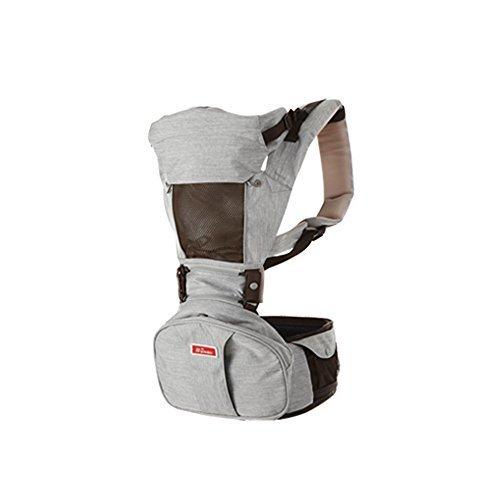 NEW シンビアイ 6Way 大容量シークレットポケット付 ヒップシートキャリア[抱っこ紐/抱っこひも/ヒップシート] (シルバーグレー),ヒップシート,