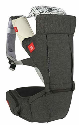 i-Call(アイコール) 抱っこひも 前向き抱き おんぶ [日本正規品保証付] HUG Light/チャコールグレー 4か月~ IC-105-MC-JP,ヒップシート,