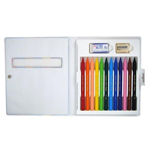 サクラクレパス クーピーペンシル 12色 FY12-R1 ソフトケース入,クレヨン ,クレパス,