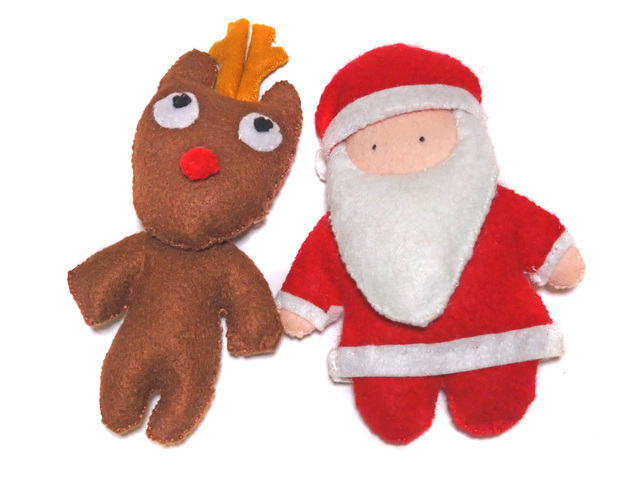 クリスマス フェルト,手作り,マスコット,