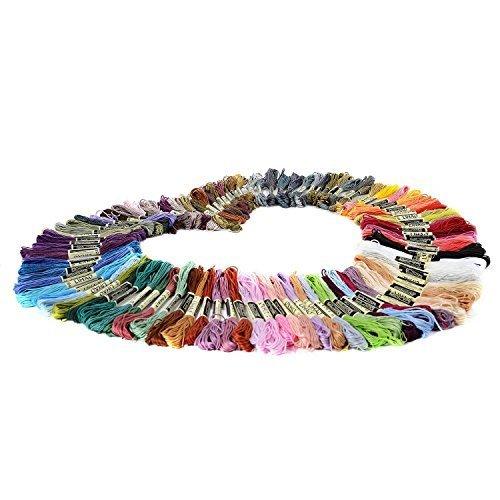 LIHAO 刺しゅう糸 刺繍系 100本100色 まとめ買い 色分け ミサンガ タッセル,手作り,マスコット,