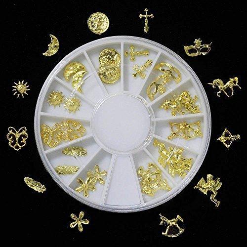 ミニチュアチャーム ラウンドケース入り ゴールド(12種類×2個)24個セット ver.2,手作り,マスコット,