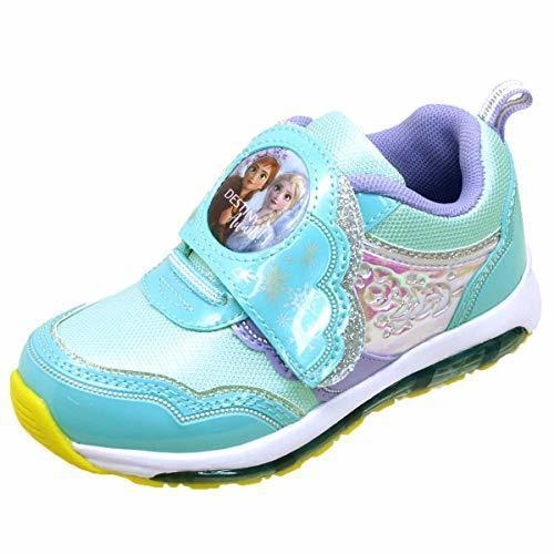 [ディズニー] 1009 アナと雪の女王2 光るスニーカー 運動靴 ベルクロ マジックベルト キッズ (19cm, 02【ミント】),幼稚園,入園祝い,