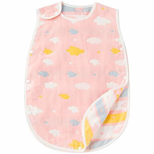 Hapipana 綿100% 6重ガーゼ スリーパーベビー キッズ 赤ちゃん コットン 柔らかい 寝冷え防止 (女の赤ちゃん B, ベビーサイズ),ベビー,スリーパー,