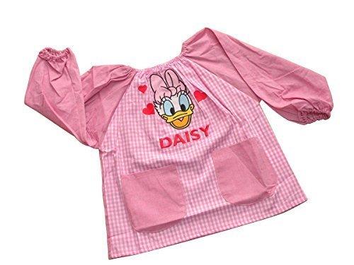 選べる4タイプ Disney ディズニー 子供 幼稚園 保育園 キッズ 用 スモック 刺繍 アップリケ 付き エプロン デイジー 130cm,スモック,作り方,