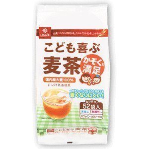 はくばく こども喜ぶ麦茶 416g (8g×52袋)×2個セット,赤ちゃん,ストロー,