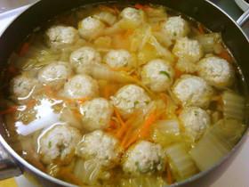 ご飯入り鶏団子スープ,離乳食,鶏団子,