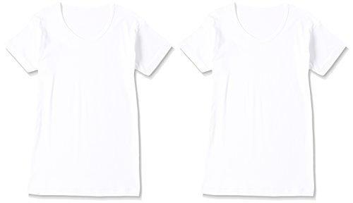 (グンゼ)GUNZE キッズ 男児 オールシーズン(部屋干し・抗菌防臭) 綿100% 半袖丸首(襟あき広め) 2枚組 BF6880B 03 ホワイト 160,小学校,パンツ,