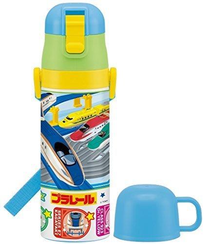 スケーター 超軽量 2WAY ステンレスボトル 水筒 コップ付き 470ml 保温 保冷 プラレール 16 B SKDC4,幼稚園,水筒,